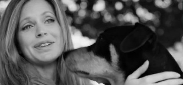 Kristin Bauer with her dog Asher in Support of Shelter Animals