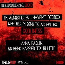 Transcription of True Blood's Comic Con 2013 Panel