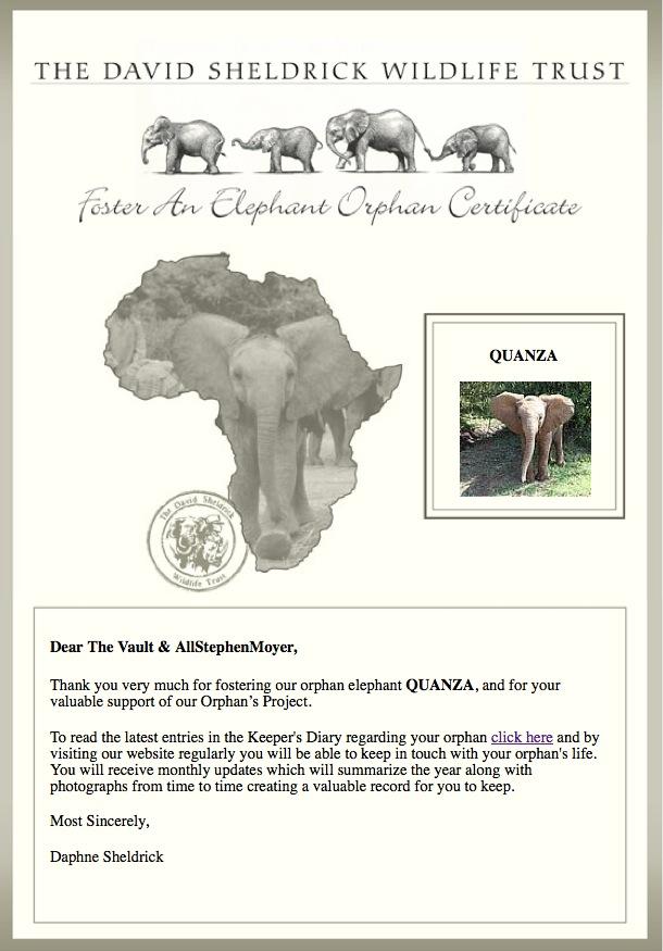 The David Sheldrick Wildlife Trust,