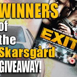 Winners of Alexander Skarsgård's EXIT DVD Giveaway