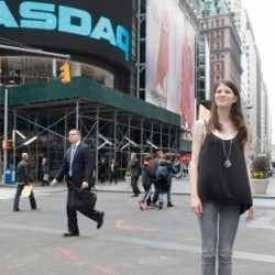 'True Blood's' Amelia Rose Blaire rings the opening bell at NASDAQ