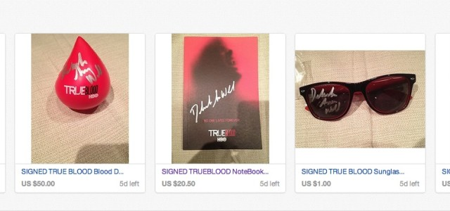 EJ Scott auctions off more True Blood signed items for charity