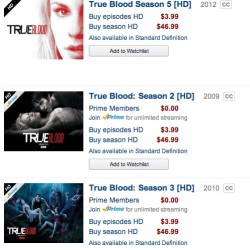First Wave of True Blood Episodes hit Amazon Prime Instant Video