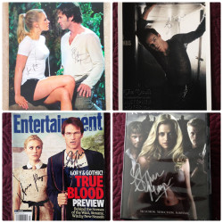 LAST CHANCE to place your bid on signed True Blood merchandise