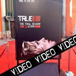 True Blood interview videos from the premiere