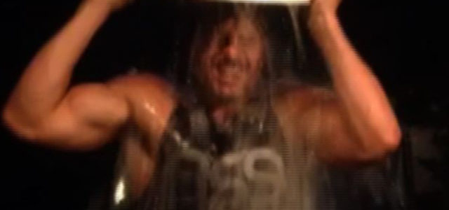 Joe Manganiello accepts the ALS Ice Bucket Challenge