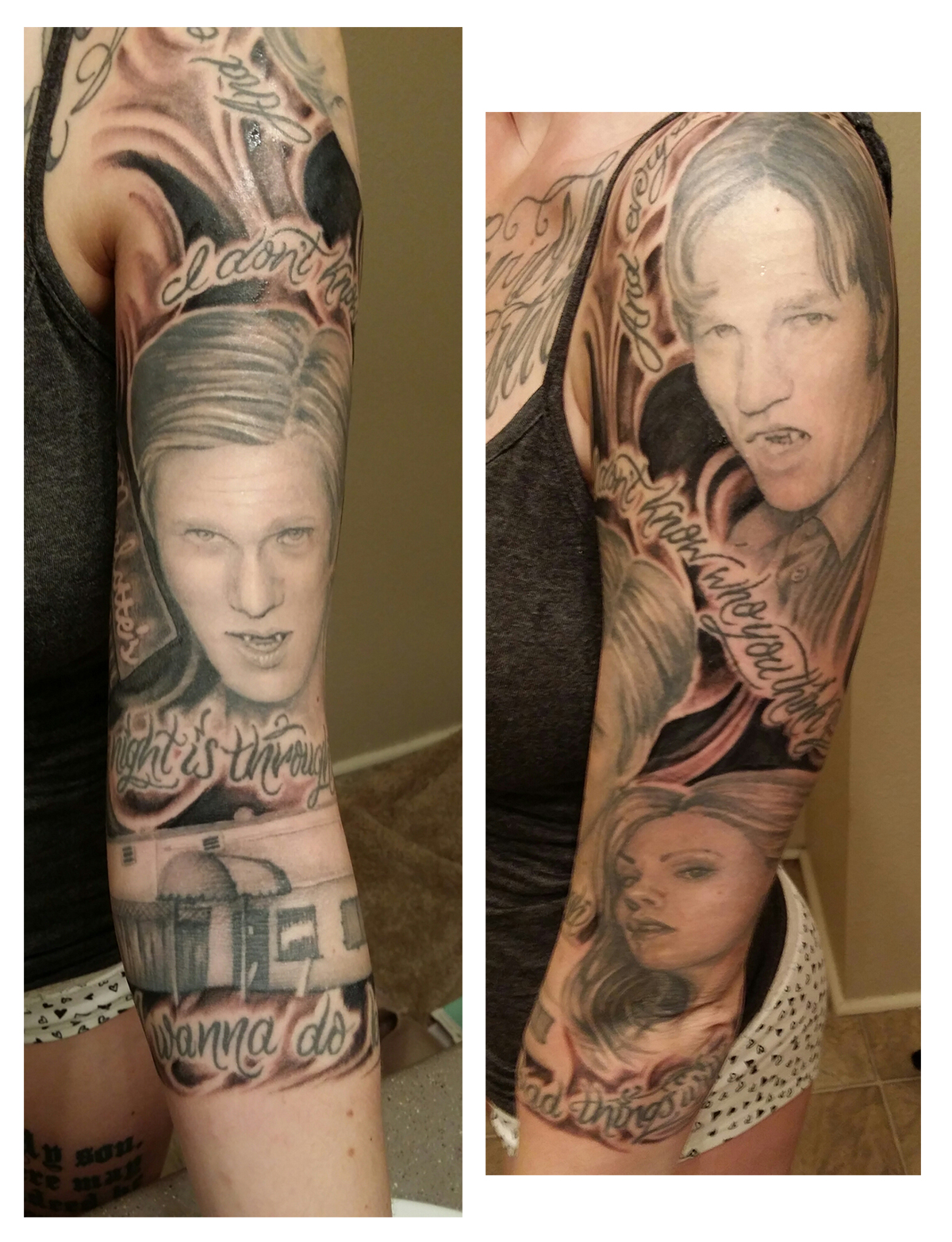 True blood fan honors the show in ink trueblood for Bloody ink tattoo price