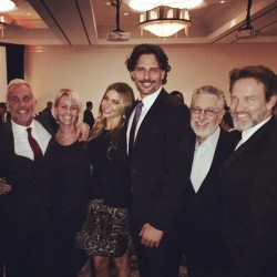 Joe Manganiello and Stephen Moyer attend Clare Dinner