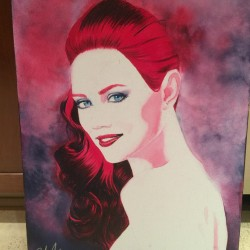 Win a painting of Deborah Ann Woll to Help EJ Scott's Marathons