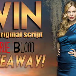 Kristin Bauer gives away her True Blood scripts for charity