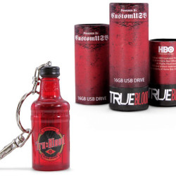 Get your True Blood fix with a TRUE BLOOD Bottle USB Drive